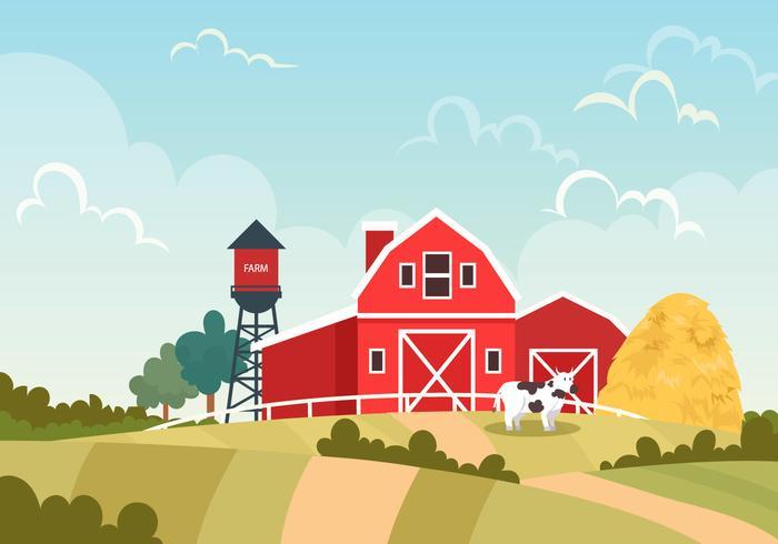 a warehouse on a farm