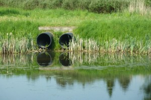 Sewage water outlet of a residential area in Denmark.