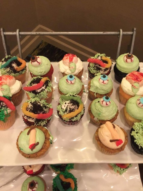 Zombie party cupcakes