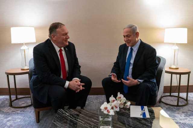 U.S. Secretary of State Michael R. Pompeo meets with Israeli Prime Minister Benjamin Netanyahu in Lisbon, Portugal, Dec. 4, 2019.
