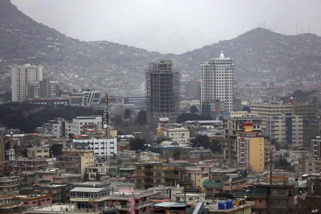 In this Wednesday, Mar. 27, 2019 photo, construction projects can be seen in Kabul, Afghanistan. The Special Inspector General for Afghan Reconstruction monitors billions of dollars in U.S. aid to the country. It issued a new report on Thursday…
