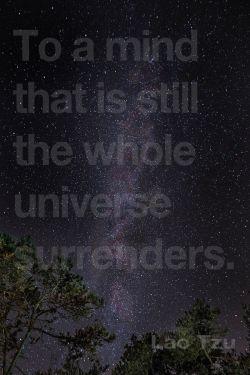 UNIVERSE meditation poster