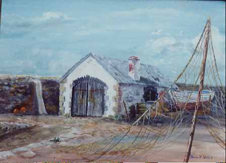 Image result for picture of old boathouse on beach
