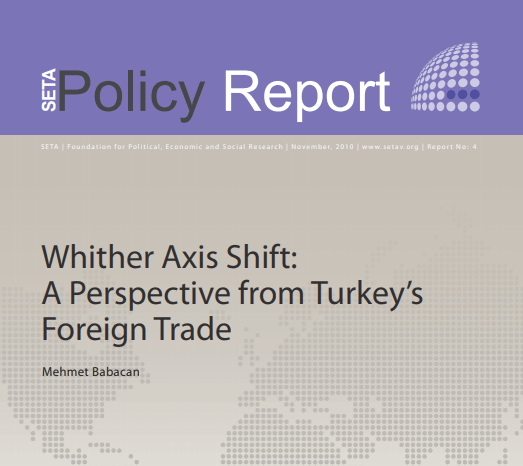 Whither Axis Shift: A Perspective from Turkey's Foreign Trade
