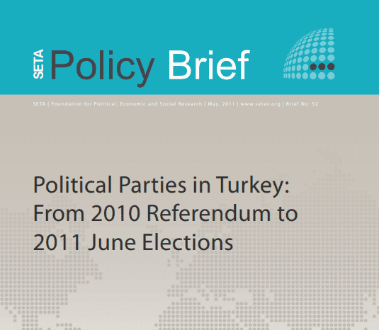 Political Parties in Turkey: From 2010 Referendum to 2011 June Elections