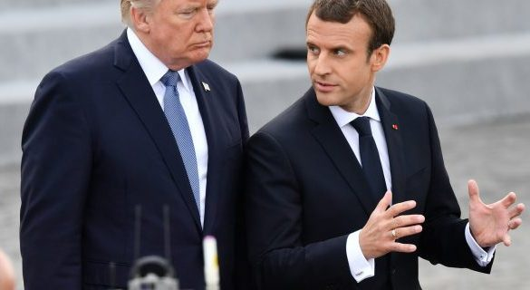 Dandruff diplomacy: Macron visits Washington