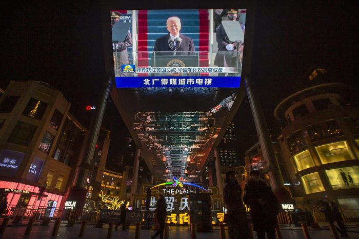 Since inauguration, Biden pushes red alert for China