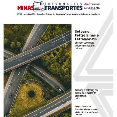 Capa do Informativo Minas Transportes_226