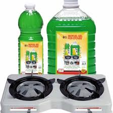 double burner ethanol stove and fuel