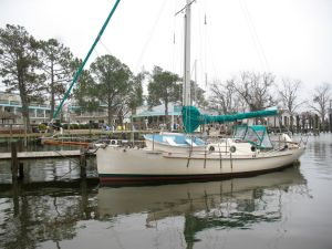 Sirocco at the town dock in Oriental, NC