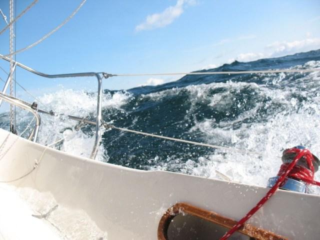 Contessa 26 sailing upwind