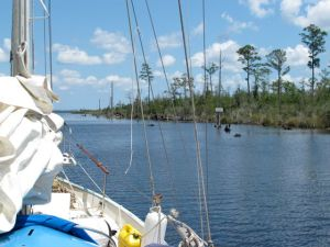 Nearing the northern end of the Alligator-Pungo Canal