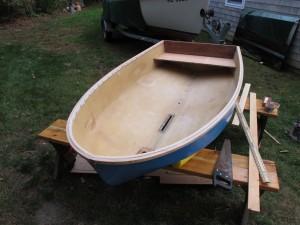 Dyer Midget dinghy rubrail