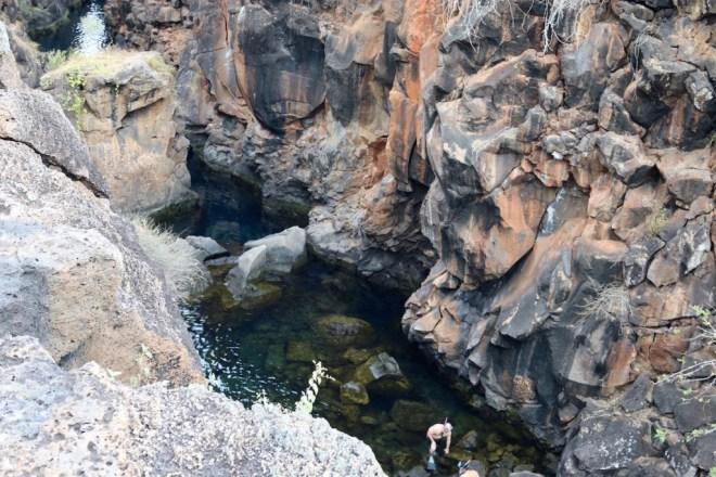 Rock formations at Las Grietas