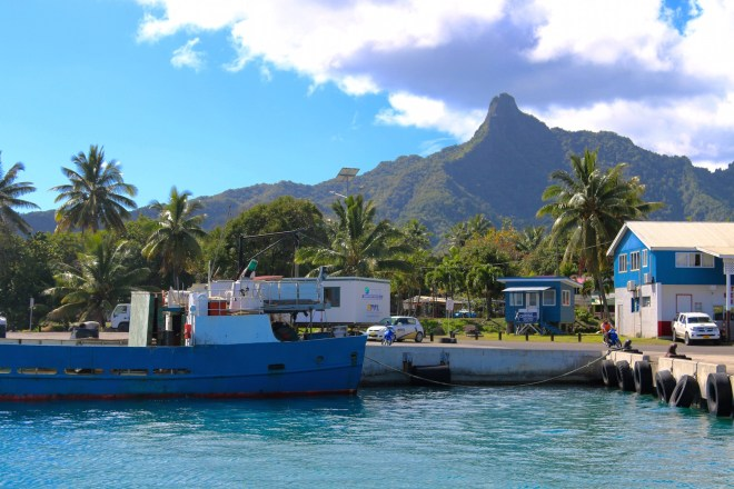 The Avatiu harbor front in Rarotonga