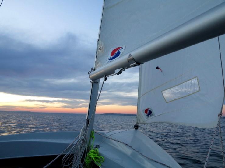Sailing near Pocasset Harbor