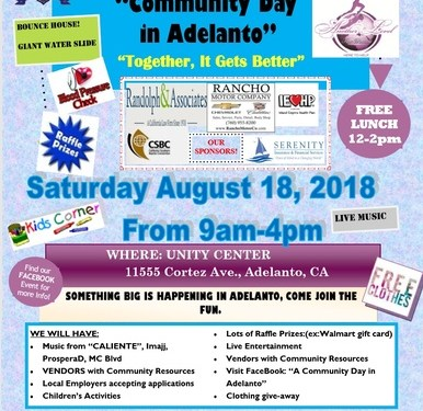 TODAY:ADELANTO COMMUNITY DAY