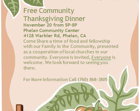 Thanksgiving Dinner November 20th