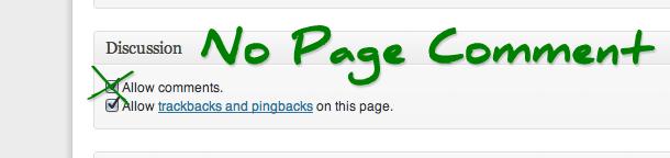 No Page Comment