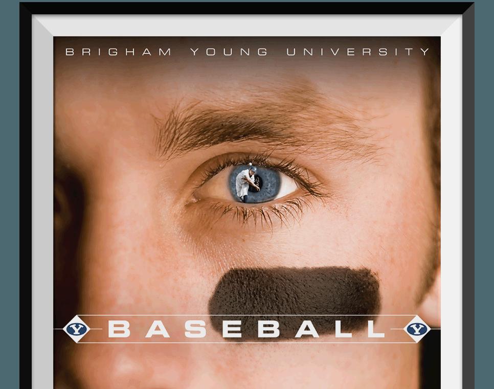 BYU Baseball Poster