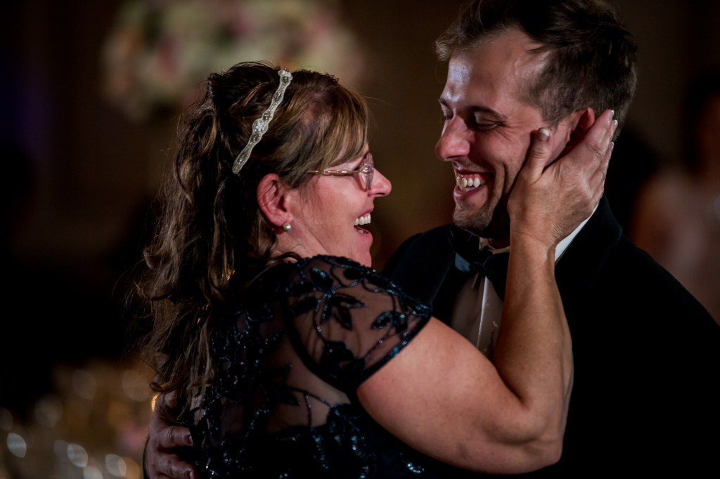 mother and son dance at Summer Westin Wedding Columbus