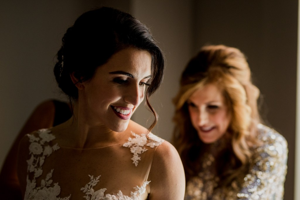 smiling bride at Columbus Ohio Westin Wedding