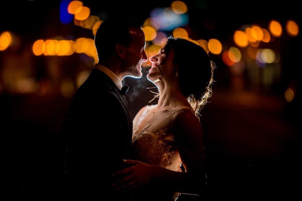 couple smiling at columbus ohio westin wedding