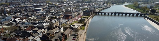 Barnstaple viewed from the air