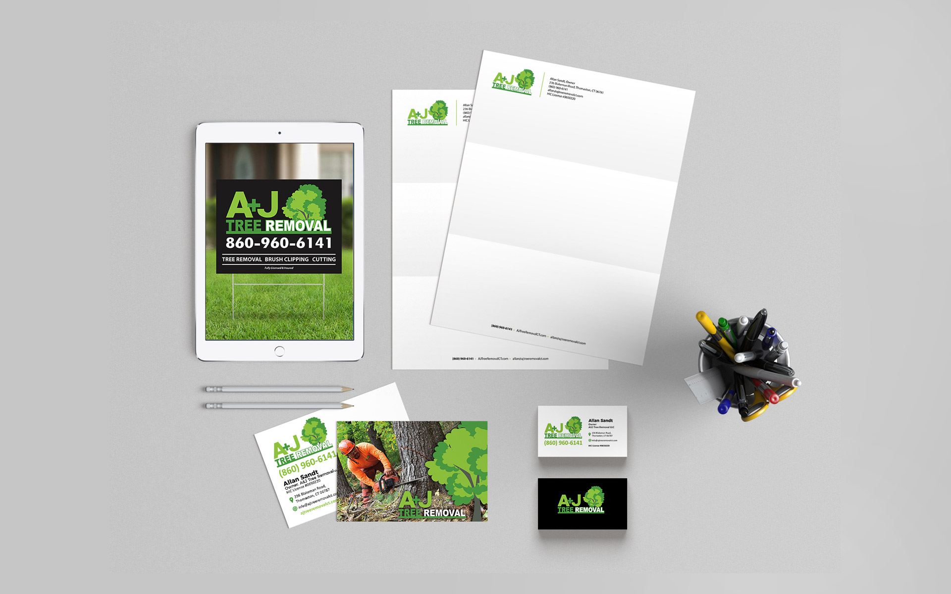 A+J Tree Removal Branding Development
