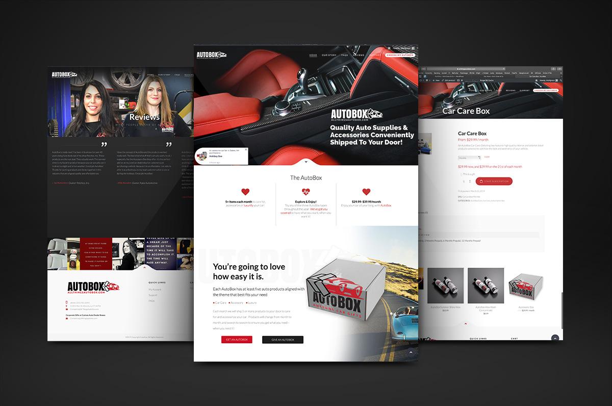 AutoBox Subscription Box Website