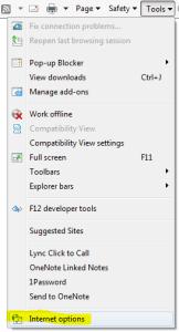 ie tools options