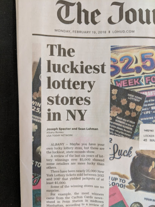 Luckiest lottery store