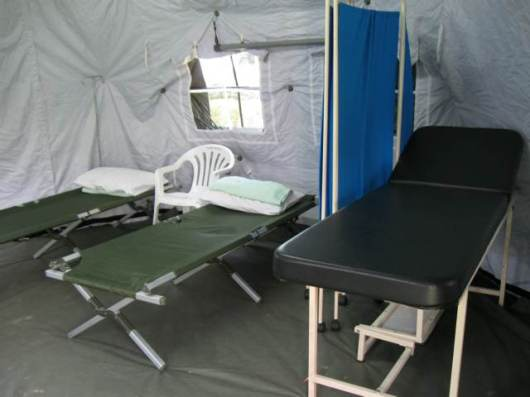 Inside the camp..
