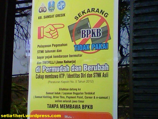 Perpanjangan STNK, Pajak Tahunan tanpa BPKB (?) – setia1heri.com
