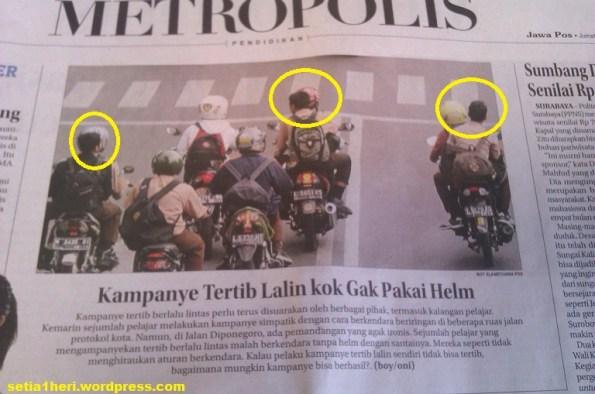 kampanye helm tapi gak pake helm