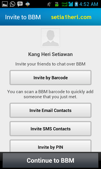 proses invite teman BBM