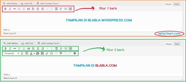 tampilan postingan di wordpress gratisan dan wordpress berbayar