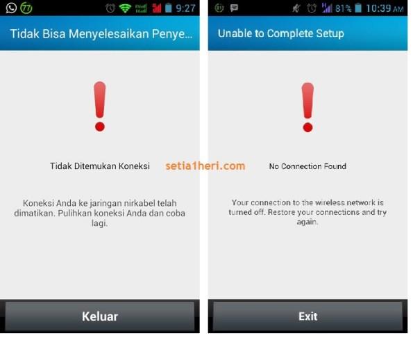 tidak ditemukan koneksi (bbm for android)