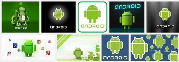 logo android si robot ijo