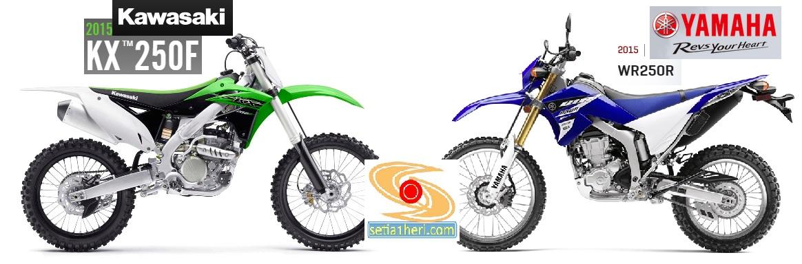 perbandingan kawasaki KX250F dan Yamaha WR250R tahun 2015