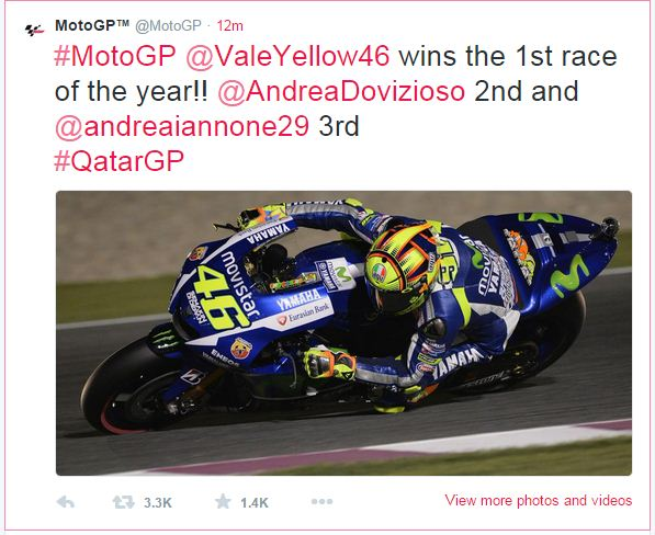 hasil moto gp losail qatar 2015 dimenangkan oleh valentino rossi