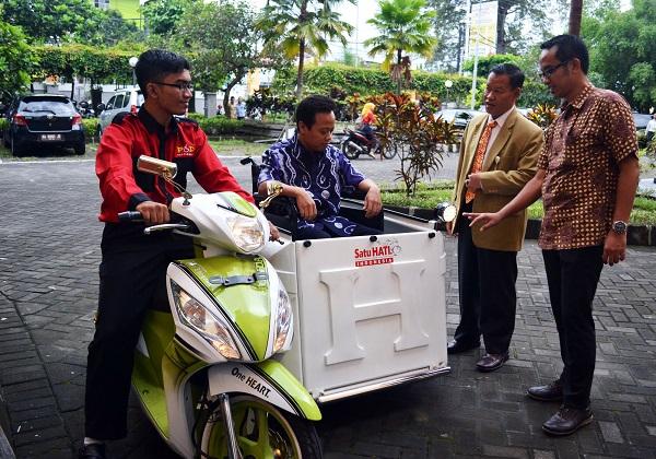 Honda Spacy F1 berdesain khusus untuk mahasiswa difabel UIN Jogjakarta