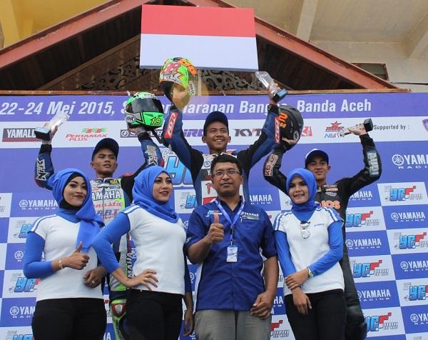 Podium YCR 3 (Moped 125 cc Tune Up Pemula + Open Class Injeksi) Seri 2 Yamaha Cup Race di Aceh