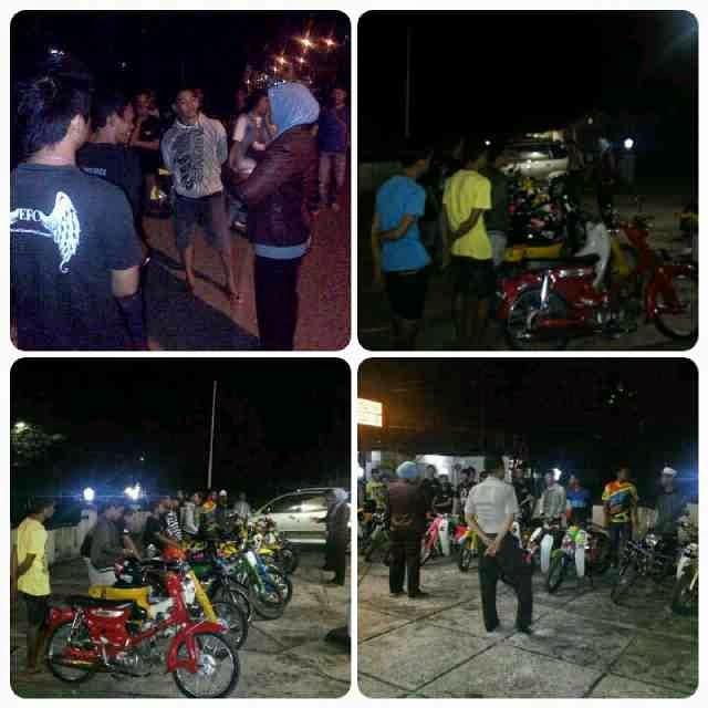 motor antik kena razia di Martapura, Kalimantan Selatan tahun 2015