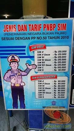 tarif pembuatan SIM di satlantas gresik