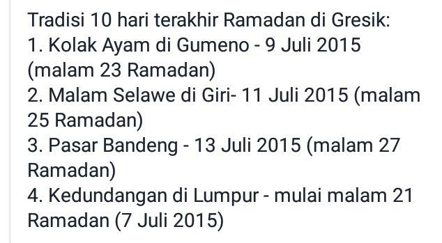 acara 10 hari terakhir ramadhan di Gresik tahun 2015