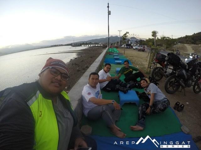 bersama kawan biker dari Bima, NTB