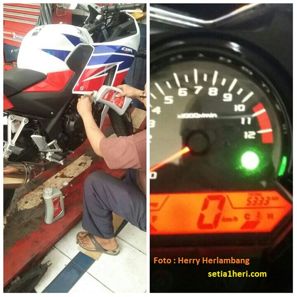 oli sesat Pertamina Fastron Diesel pada Honda CBR 250
