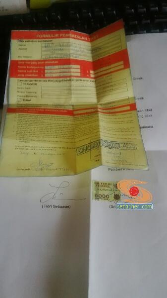 surat kuasa pengambilan uang pembatalan tiket kereta api