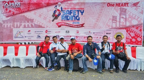 blogger di acara Safety Riding Honda di Palembang 2015